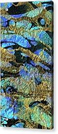 Deep Blue Abstract Art - Deeper Visions 1 - Sharon Cummings Acrylic Print by Sharon Cummings