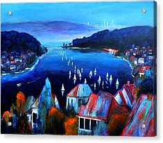 Deep Blue Day Acrylic Print
