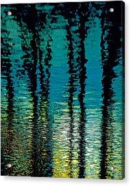 Deep Blue Acrylic Print by Gillis Cone