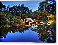 Acrylic Print featuring the photograph Deep Blue, I Am Thinking Of You by Peter Thoeny