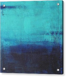 Acrylic Print featuring the painting Deep Blue Sea by Nicole Nadeau