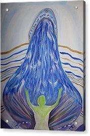 Deep Calls To Deep Acrylic Print by Wendy Smith