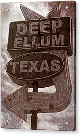Deep Ellum Texas Acrylic Print by Jonathan Davison