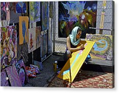 Deep Elum - Artist At Work  Acrylic Print