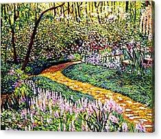 Deep Forest Garden Acrylic Print by David Lloyd Glover