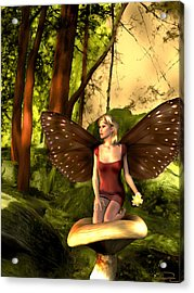 Deep In The Forest Acrylic Print by Emma Alvarez