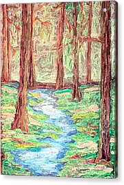 Deep In The Forest Acrylic Print by Margie  Byrne