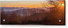 Acrylic Print featuring the photograph Deep Orange Sunrise by D K Wall