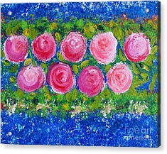Deep Pink Flowers Acrylic Print