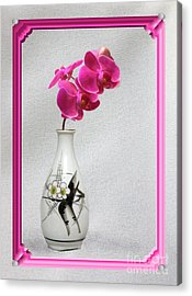 Acrylic Print featuring the photograph Deep Pink  Orchids by Linda Phelps