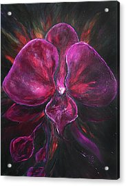 Deep Purple Orchid Acrylic Print