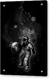 Deep Sea Space Diver Acrylic Print by Nicklas Gustafsson