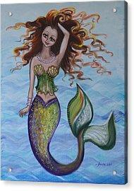Deep Sea Style Acrylic Print by Agata Lindquist