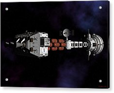 Acrylic Print featuring the digital art Deep Space by David Robinson