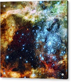 Deep Space Fire And Ice 2 Acrylic Print by Jennifer Rondinelli Reilly - Fine Art Photography