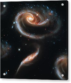 Deep Space Galaxy Acrylic Print by Jennifer Rondinelli Reilly - Fine Art Photography