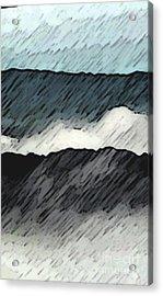 Deep Storm 1 Acrylic Print by EGiclee Digital Prints