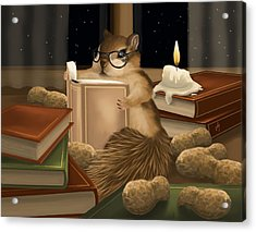 Acrylic Print featuring the painting Deep Study by Veronica Minozzi