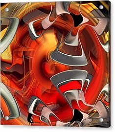 Acrylic Print featuring the digital art Deep Within - U09 by rd Erickson