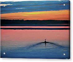 Deepest Sunset Acrylic Print by Kenneth M Kirsch