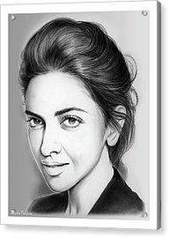 Deepika Padukone Acrylic Print by Greg Joens