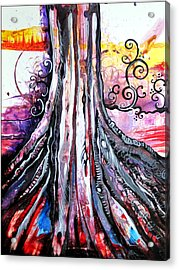 Deeply Rooted II Acrylic Print by Shadia Zayed