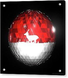 Deer Bauble - Frame 103 Acrylic Print