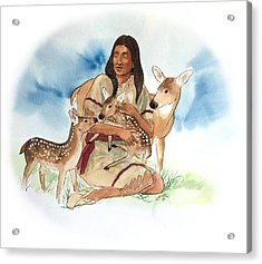 Deer Clan Mother Acrylic Print by John Guthrie