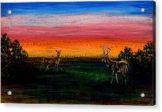 Deer Dawn Acrylic Print