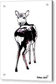 Deer In Nara By Taikan Acrylic Print