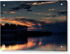 Acrylic Print featuring the photograph Deer Isle Sunset II by Greg DeBeck