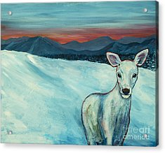 Acrylic Print featuring the painting Deer Jud by Angelique Bowman