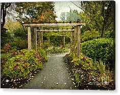 Fall In The Garden At Deer Lake Acrylic Print