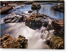 Deer Lake Riffles In Forest Park, St Louis, Missouri Acrylic Print by Garry McMichael