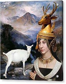 Deer Medicine Woman Acrylic Print