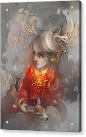 Deer Princess Acrylic Print