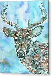 Deer Acrylic Print by Tamara Phillips