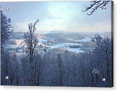 Deer Valley Winter View Acrylic Print by Meta Gatschenberger