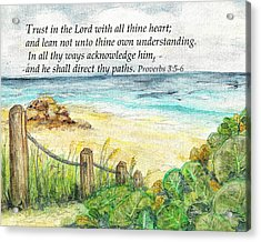 Deerfield Beach Sea Grapes Proverbs 3 Acrylic Print