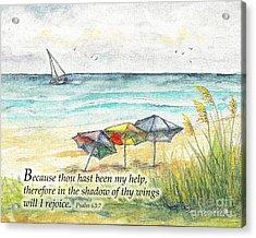 Deerfield Beach Umbrellas Psalm 63 Acrylic Print