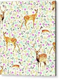 Deers Acrylic Print by Uma Gokhale