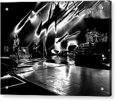Def Leppard At Saratoga Springs 5 Acrylic Print by David Patterson