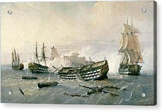 Defence Of The Havana Promontory  Acrylic Print by Rafael Monleon y Torres