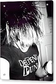 Acrylic Print featuring the photograph Defend Punk by Jane Autry