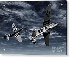 Defensive Split  Acrylic Print by Richard Rizzo