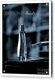 Definition Of Beauty Blue Acrylic Print