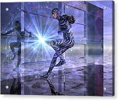 Acrylic Print featuring the digital art Defy The Boundaries Visible And Invisible by Shadowlea Is