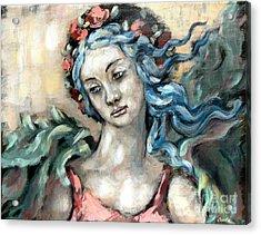 Degas Angel Acrylic Print by Carrie Joy Byrnes