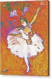 Degas Dancer Acrylic Print by Robert Bissett