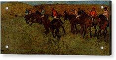 Degas Edgar At The Races Before The Start Acrylic Print by Edgar Degas